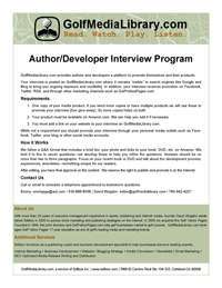Author-Developer Interview Program