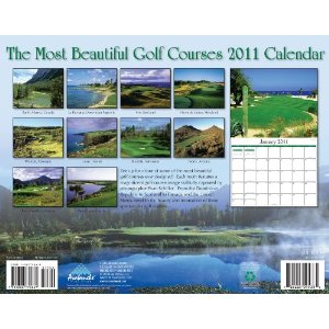 2011 Most Beautiful Golf Courses Calendar-back