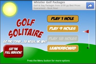 Golf Solitaire-Free Version